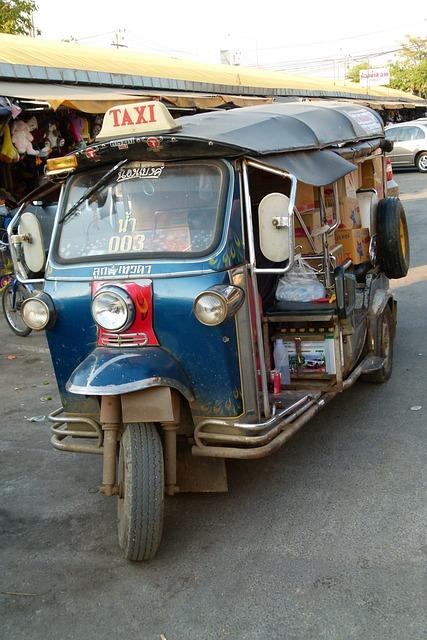 Taxi, Thailand, Tuk Tuk, Asia, Bangkok, Auto