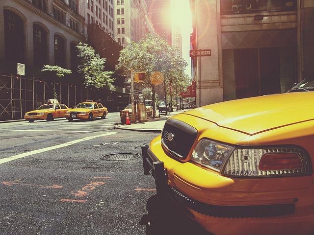 Taxi, Cab, Taxicab, Taxi Cab, New York, City, Cars, Nyc