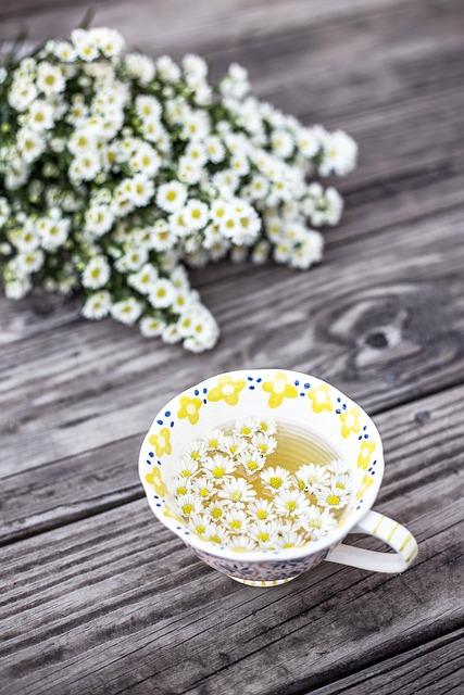 Tea, Cup, Chamomile, Chamomile Flowers, Chamomile Tea