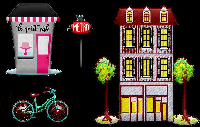 Paris Shops, Café, Restaurant, Tea, Flower Shop, Hotel