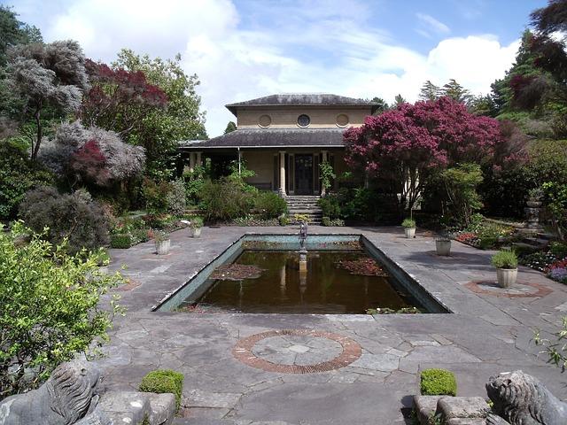 Tea House, Garden, Botanical, Park, Ireland