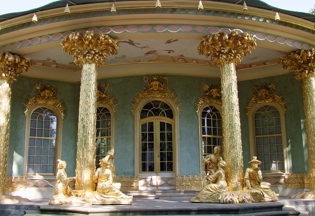 Chinese Home, Tea House, Park Sanssouci, Potsdam, Gold