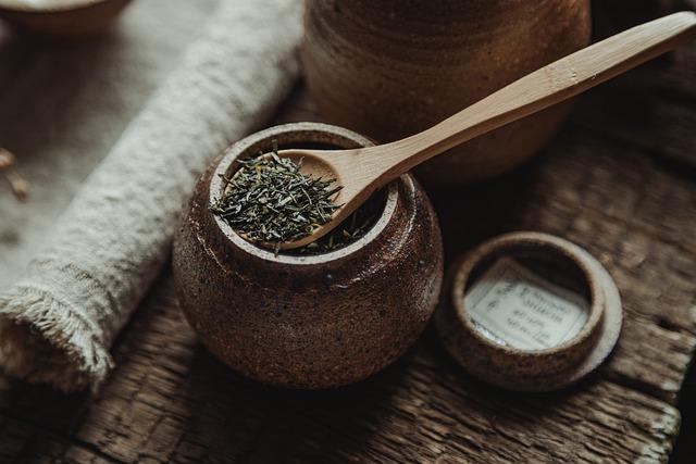 Tea, Tea Leaf, Tea Jar, Spoon, Wooden Spoon, Jar