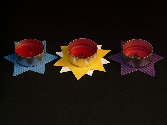 Tea Lights, Tinker, Star, Decoration, Candle
