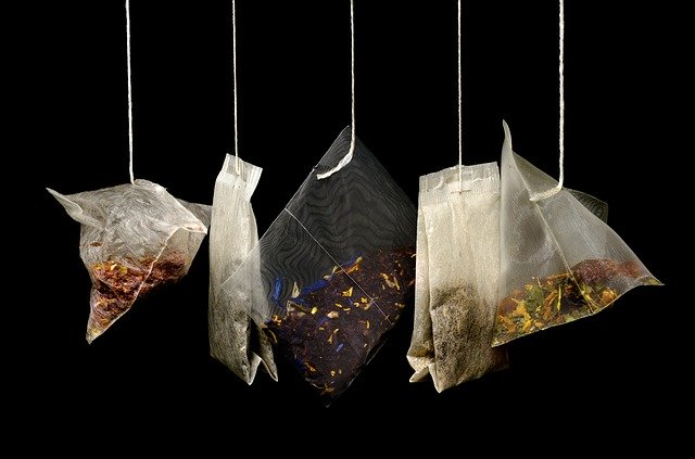 Tea, Teabags, Black Background, Macro, Kitchen, Drink