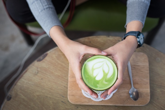 Matcha Latte, Hot, Matcha, Beverage, Tea, Cup, Green
