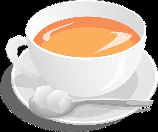Tea, Cup, Sugar, Spoon, Hot, Beverage, Drink, Breakfast