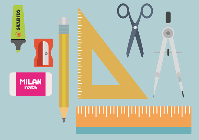 Office, Material, Teacher, Rule, Pencil Sharpener