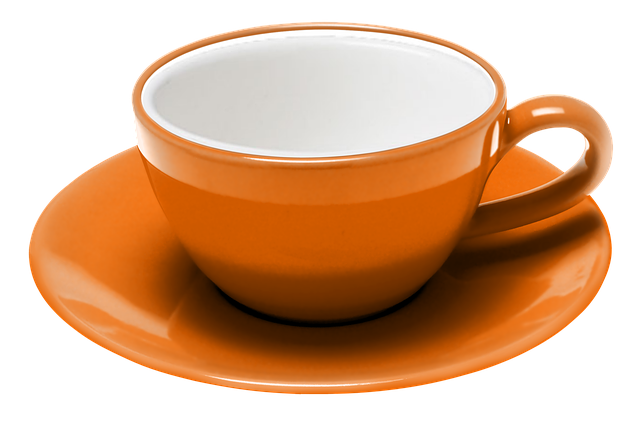 Teacup, Coffee, Saucer, Expresso, Procel, Orange