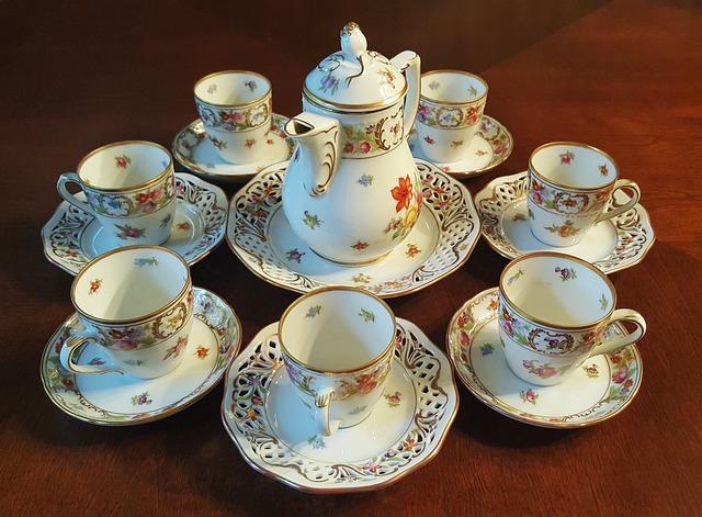 Tea Set, Tea, China, Fine China, Chinaware, Teacups