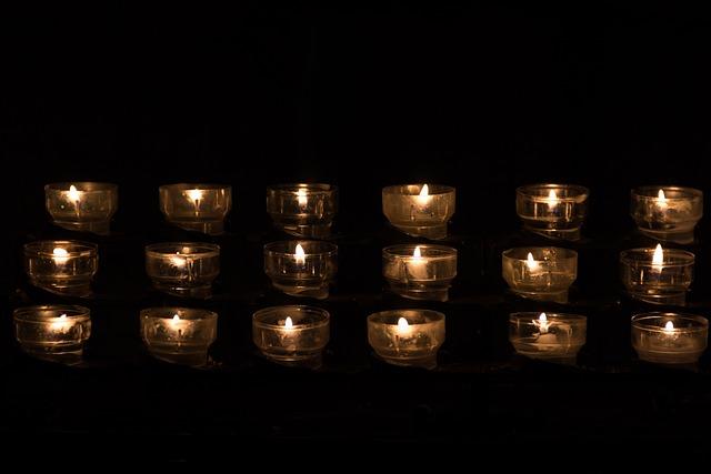 Candle, Candle Light, Tealight, Church, Church Service