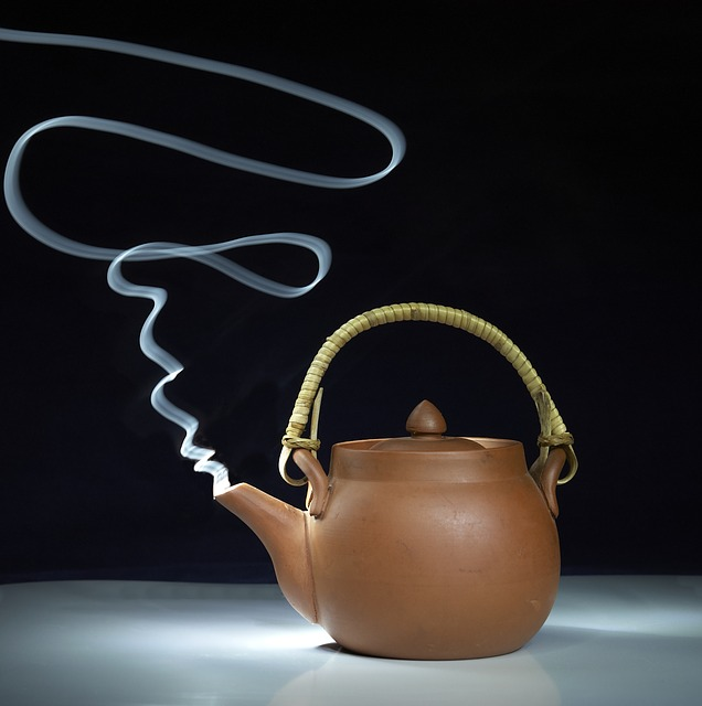 Teapot, Tea, Painting With Light, Smoking, Steam