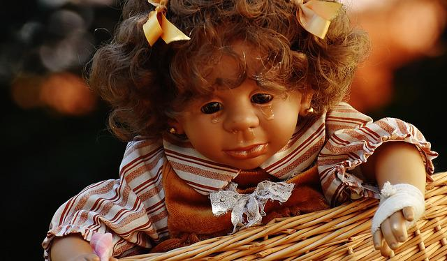 Doll, Girl, Cry, Injured, Tears, Sweet, Toys, Children