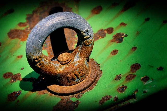 Rusty, Eyelet, Fixing, About, Screw, Detail, Technology