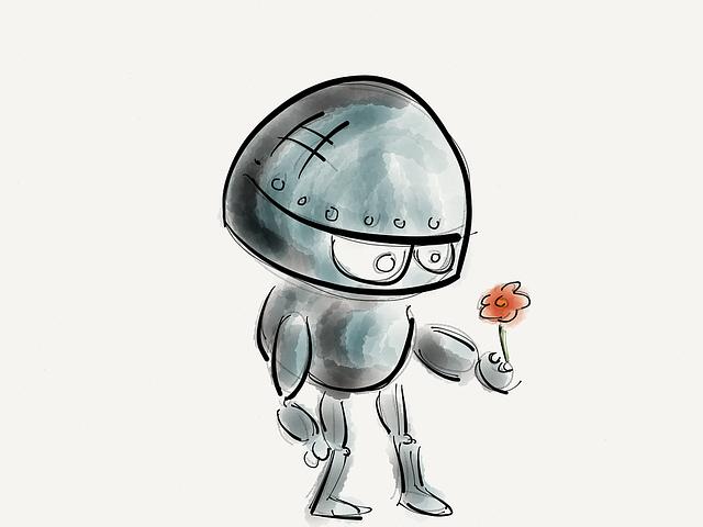 Robot, Flower, Technology, Future, Robotic