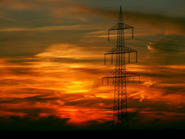 Sunset, Afterglow, Landscape, Technology, Energy