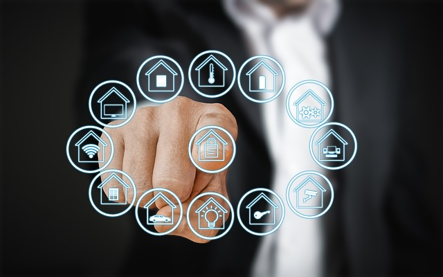 Smart Home, House, Technology, Touch Screen, Finger