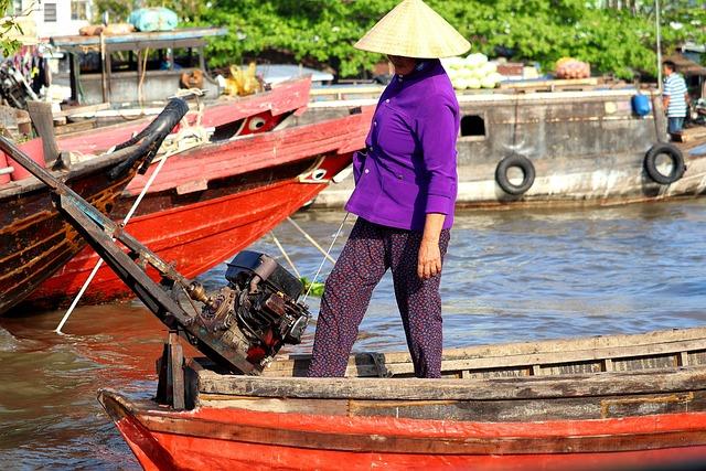 Vietnam, Technology, Mekong River, River, Boat, Motor