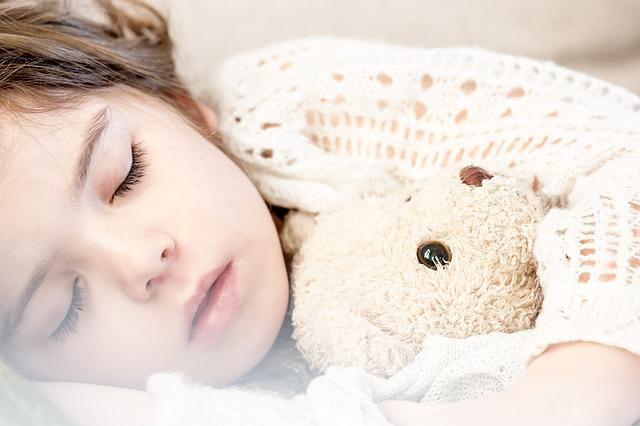 Sleeping, Child, Napping, Girl, Teddy, Teddy Bear, Kid