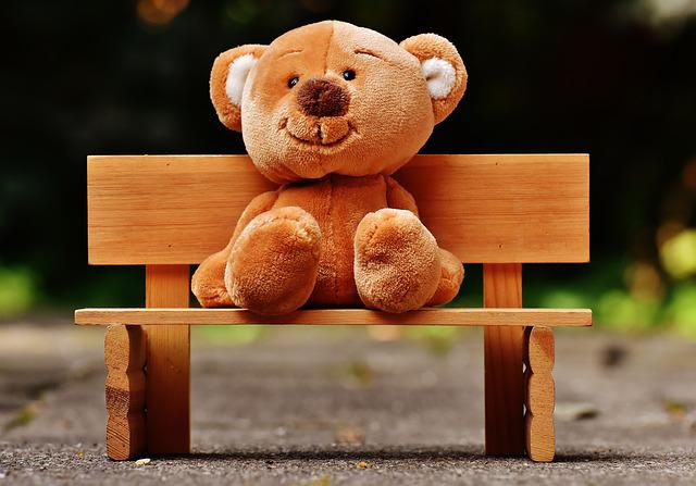 Teddy, Bank, Sit, Teddy Bear, Bear, Fun, Plush, Funny