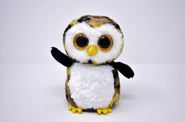 Owl, Glitter Eyes, Soft Toy, Funny, Teddy Bear