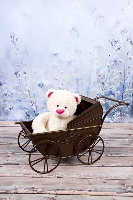 Teddy Bear, Plush, Toy, The Mascot, Cuddly, Sitting