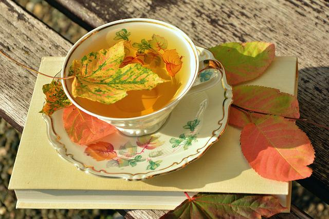 Tee, Teacup, Autumn, Autumn Colours, Fall Leaves