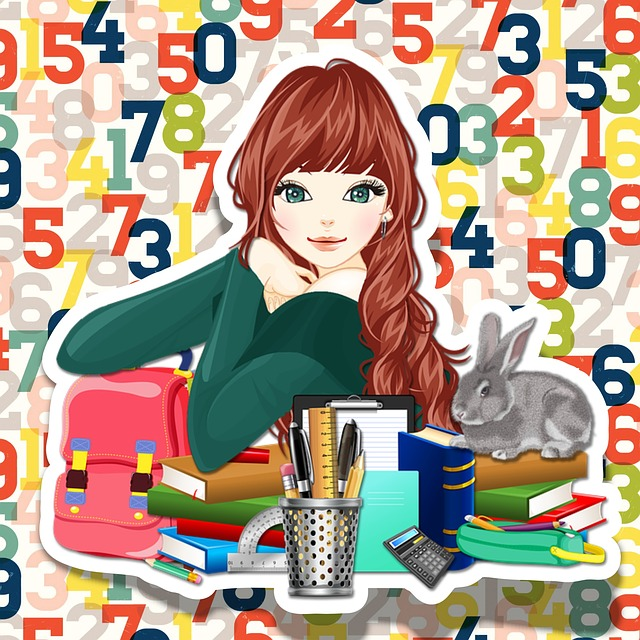 School, Girl, Template, Stationery, Pretty, Teen