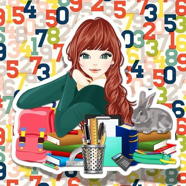 School, Girl, Template, Stationery, Pretty, Teen