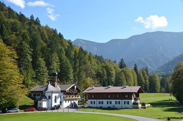 Bavaria, Wildbad Kreuth, Tegernsee, Almen, Mountains