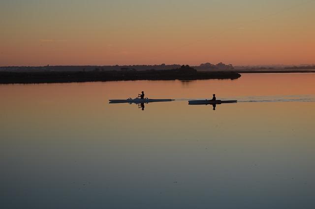 Rio, Montijo, Tejo, Canoes, Sunsets, Dagalega