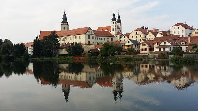 Telč, Czechia, Unesco, Park, Moravia, Pond, Historical