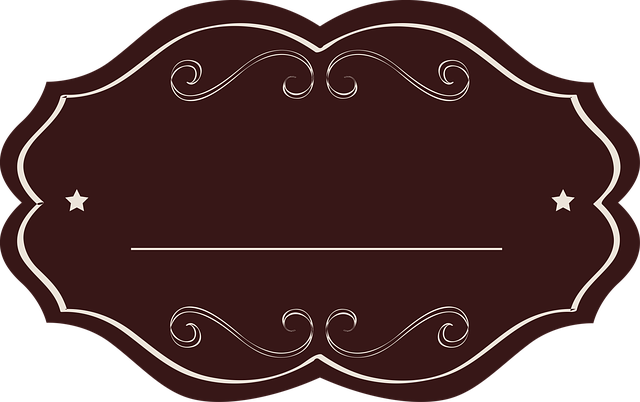 Label, Tag, Brown, Oval, Fancy, Empty, Drink, Template