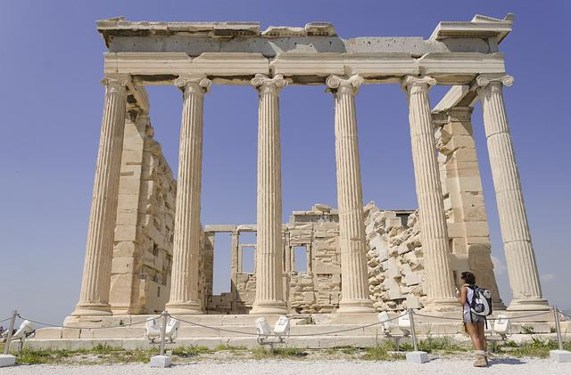 Greece, Athens, Acropolis, Parthenon, Columns, Temple