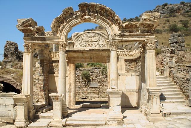 Ephesus, Ancient, Turkey, Hadrian, Temple