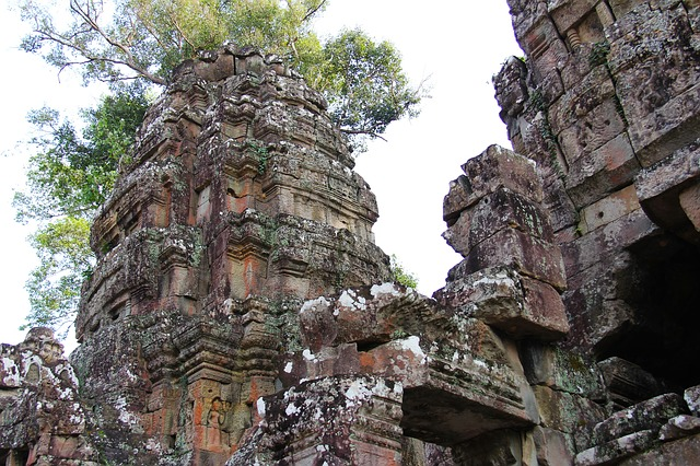 Preah Khan Temple, Temple, Travel, Antique, Old