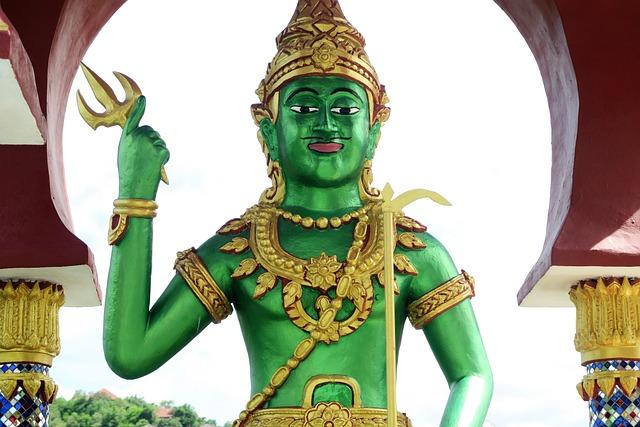 Temple, Thailand, Koh Samui, Sea god