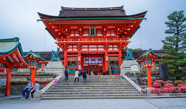 Fushimi Inari-taisha Shrine, Kyoto, Japan, Temple