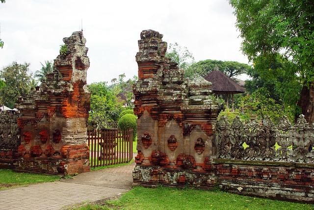 Indonesia, Bali, Temple, Mengwi, Pura Taman Ayung