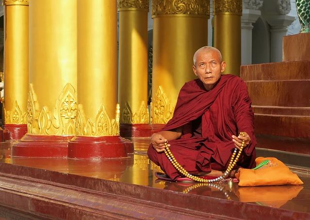 Religion, Buddha, Temple, Spirituality, Monk, Prayer