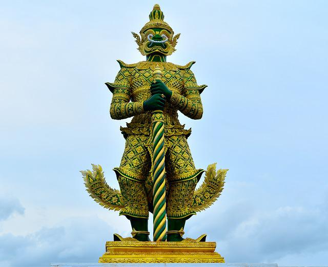 Giant, Statue, Idol, Temple Of The Emerald Buddha