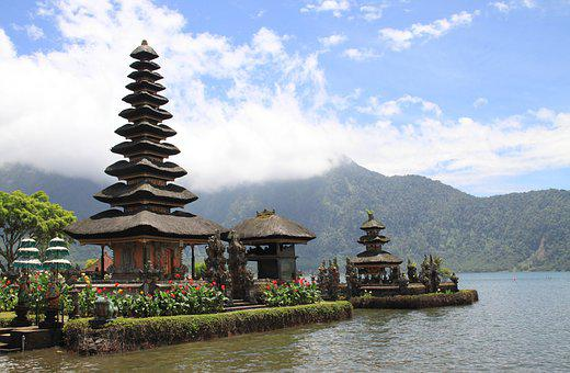 Pagoda, Temple, Lake, Travel, Architecture, Water