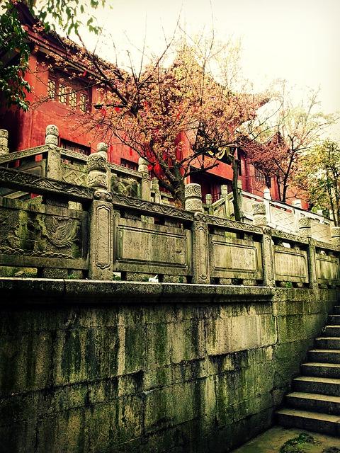 Asia, China, Guiyang, Qianling Park, Monastery, Temple