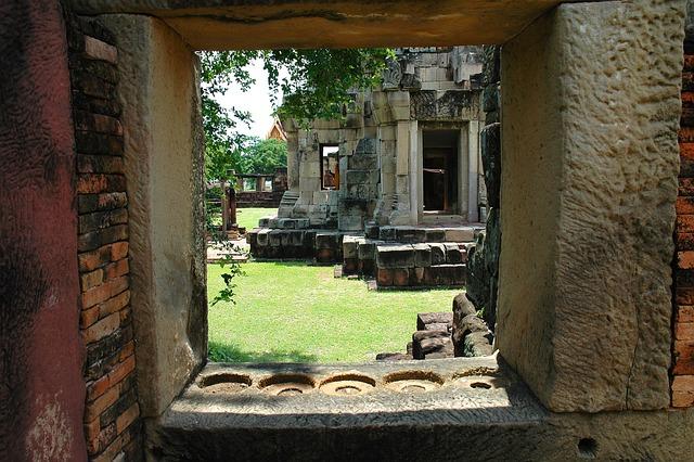 Temple Complex, Temple, Ruin, Thailand, Khorat