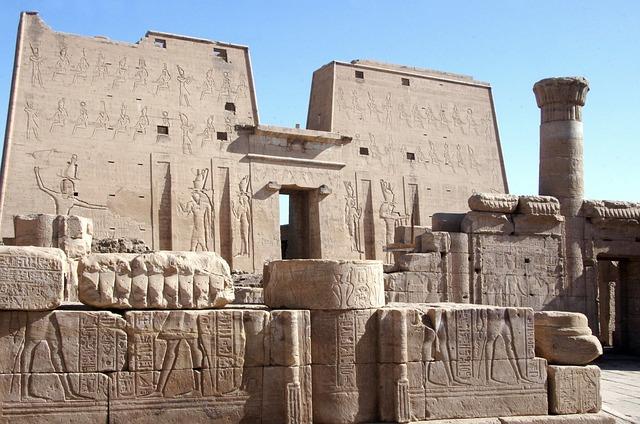Egypt, Edfu, Temple, Tower, Ruins, Gods, Horus
