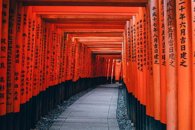 Architecture, Japan, Kyoto, Path, Shinto, Temple, Red
