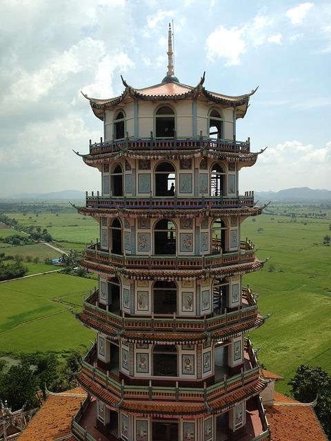 Kanchanaburi, Pagoda, Temple, Thailand, Thai, Travel