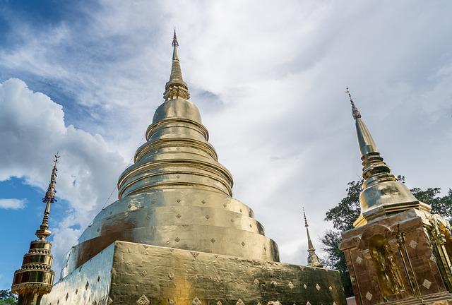 Wat Phra, Temple, Chiang Mai, Thailand, Golden Temple