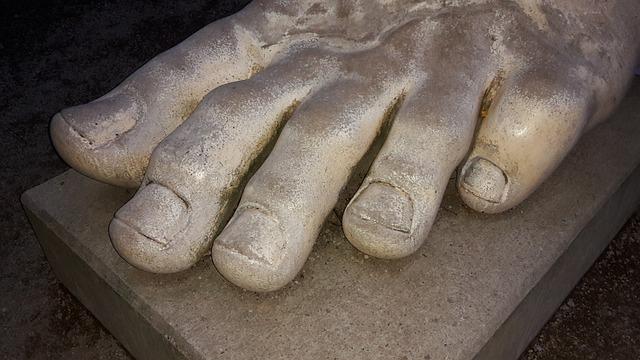 Foot, Ten, Toe Nails, Statue, Marble, Sculpture, Trier