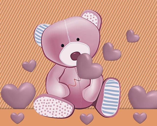 Teddy Bear, Tenderness, Decoration, Texture, Background